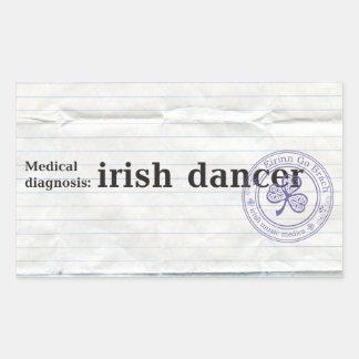 Medical diagnosis: irish dancer rectangular sticker