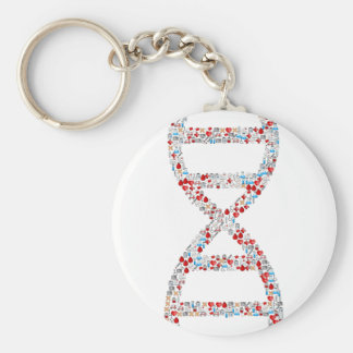 Medical DNA Helix Keychain