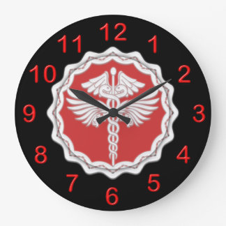 Medical doctor caduceus large clock