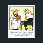 """Medical/Doctor Humor Wrapped Canvas Gift<br><div class=""""desc"""">Wonderfully funny and slightly sarcastic cartoon characters in hilarious situations that's sure to bring a smile to anyone's face. Great fun for the wonderfully funny, slightly sarcastic character you know! Enjoy spreading the laughter with this humorous medical wrapped canvas by artist Bill Abbott; it'll make a great present for someone...</div>"""