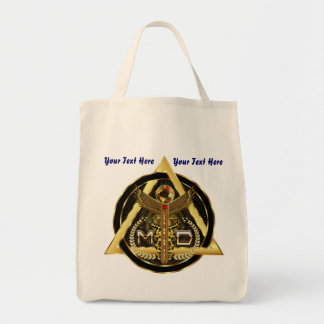 Medical Doctor Logo Universal VIEW ABOUT Design Tote Bag