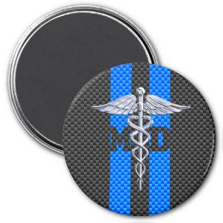 Medical Doctor MD Caduceus on Carbon Fiber Decor Magnet