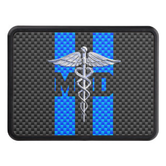 Medical Doctor MD Caduceus on Carbon Fiber Style Hitch Cover