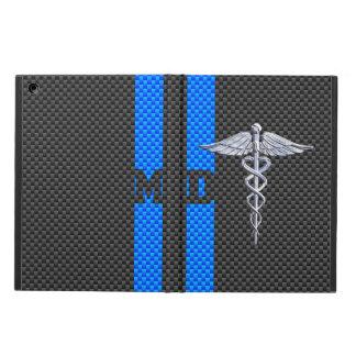 Medical Doctor MD Caduceus on Carbon Fiber Style iPad Air Case