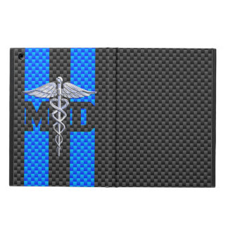 Medical Doctor MD Caduceus on Carbon Fiber Style iPad Air Cover