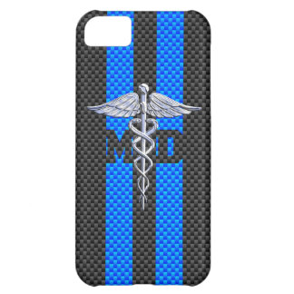 Medical Doctor MD Caduceus on Vibrant Stripes Case For iPhone 5C