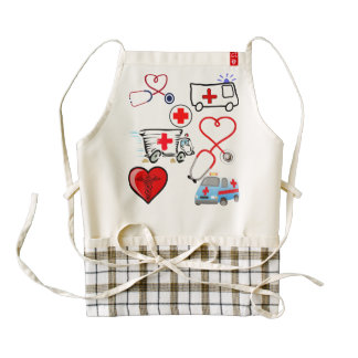 Medical doctor nurse emt health care love heart zazzle HEART apron
