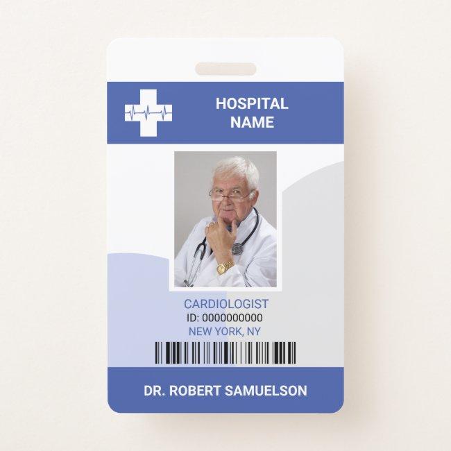 MEDICAL DOCTOR NURSE Health Care Bar Code Badge