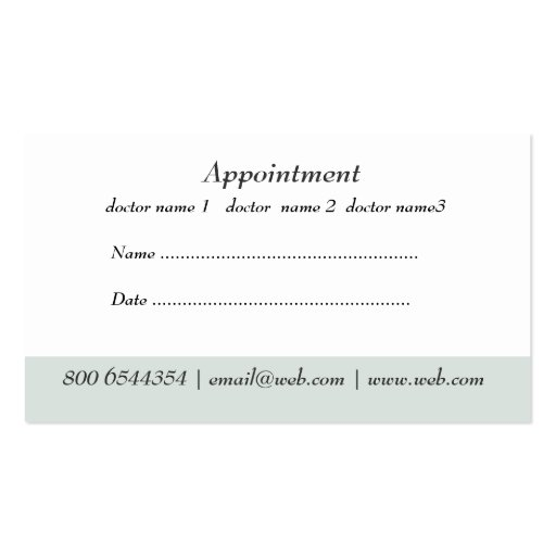 Medical doctor office appointment business card templates wajeb Image collections
