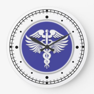 Medical doctor professional blue large clock