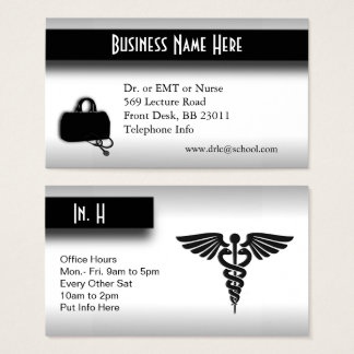 Medical  Doctor Silver Business Card