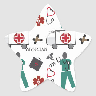 Medical Doctor Star Stickers