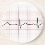 Medical EKG heart beating, for doctor or nurse Beverage Coaster