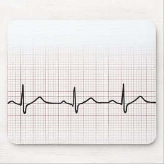 Medical EKG heart beating, for doctor or nurse Mouse Pads