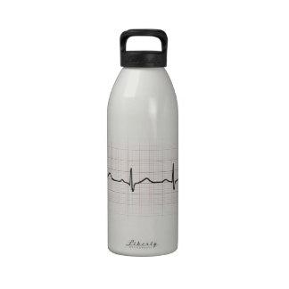 Medical EKG heart beating for doctor or nurse Reusable Water Bottles