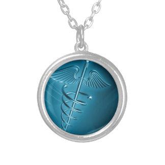 Medical & Emergency  Doctors  Internal Medicine Silver Plated Necklace