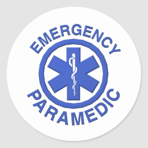 Medical Emergency Paramedic Classic Round Sticker