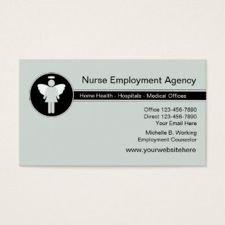 Medical Employment Agency Business Card