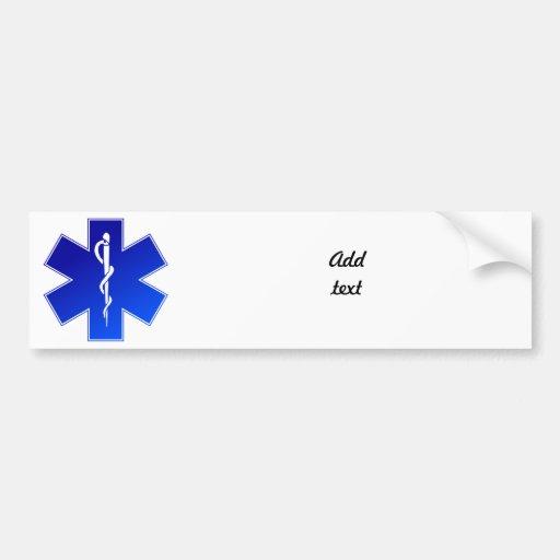 Medical EMS Symbol Bumper Stickers