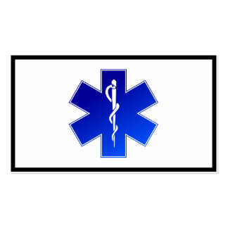 Medical EMS Symbol Double-Sided Standard Business Cards (Pack Of 100)
