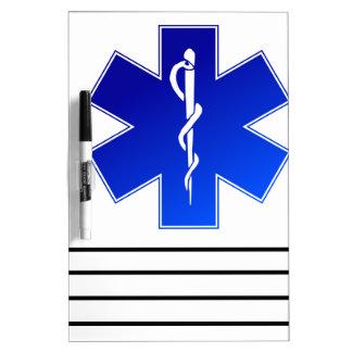 Medical EMS Symbol Dry Erase Board
