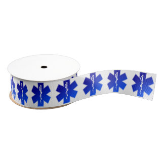 Medical EMS Symbol Grosgrain Ribbon