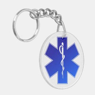 Medical EMS Symbol Double-Sided Round Acrylic Keychain