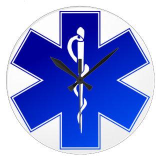 Medical EMS Symbol Large Clock