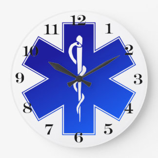 Medical EMS Symbol Large Clock