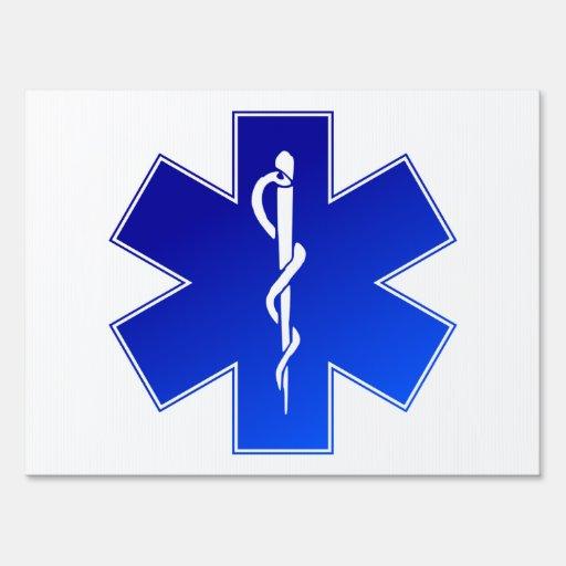 Medical EMS Symbol Lawn Sign