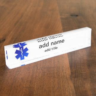 Medical EMS Symbol Nameplate
