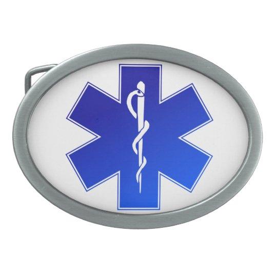 Medical EMS Symbol Oval Belt Buckle