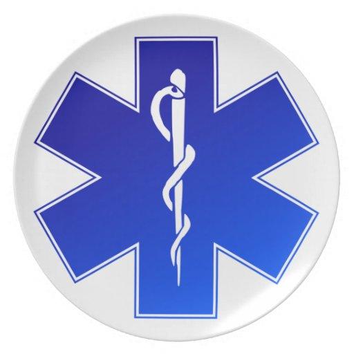 Medical EMS Symbol Dinner Plate