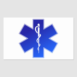 Medical EMS Symbol Rectangular Sticker