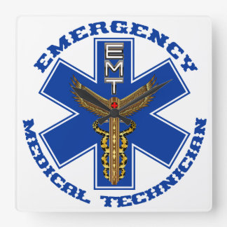 Medical EMT Universal View Notes Important Square Wall Clock