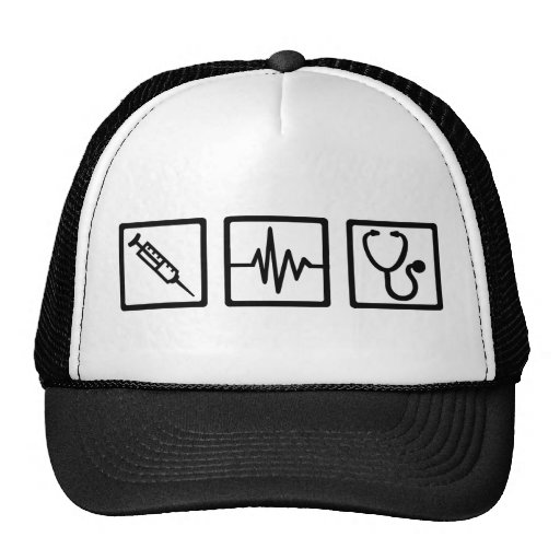 Medical equipment stethoscope syringe mesh hat