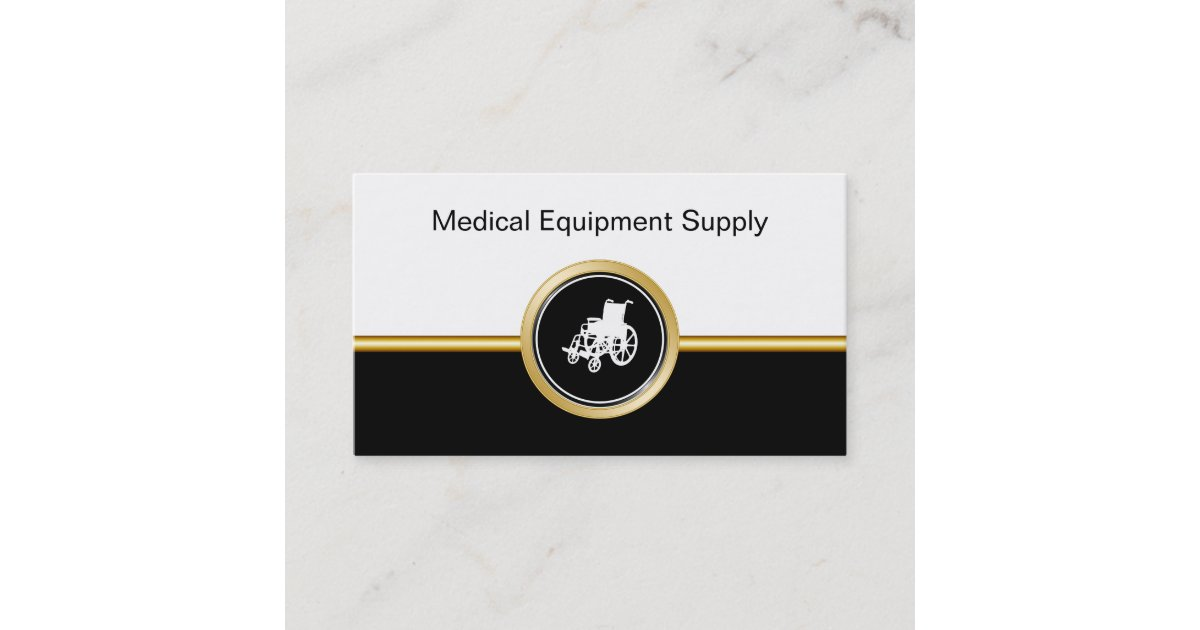 Medical Equipment Supply Business Cards | Zazzle com