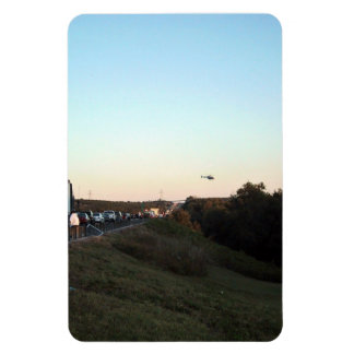 Medical Evacuation Helicopter leaving an accident Magnet