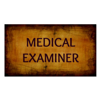 Medical Examiner Antique Business Card