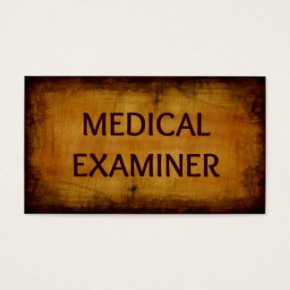 Medical Examiner Antique Business Card