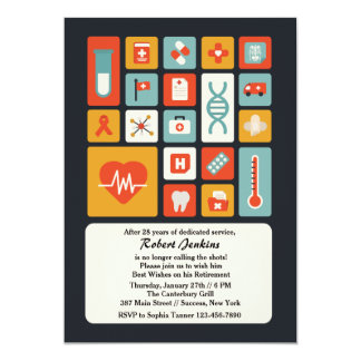Medical Field Retirement Party Invitation