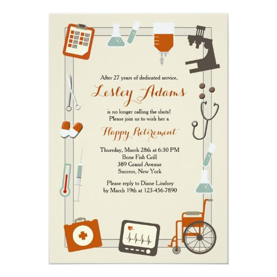 medical frame retirement party invitation zazzle com