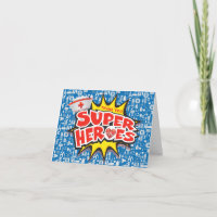 Medical Frontline Super Heroes Nurses Healthcare Thank You Card