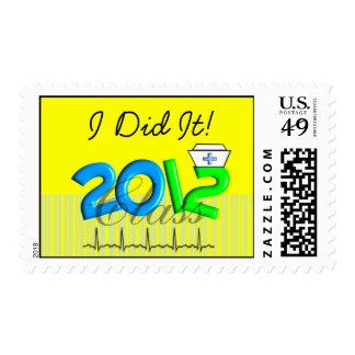 """Medical Graduation 2012 Postage """"I Did It!"""""""