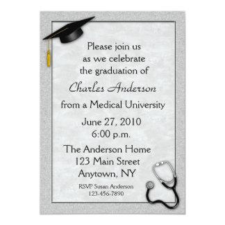 Medical Gray Graduation Invitation