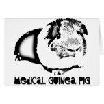 Medical Guinea Pig Greeting Card