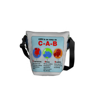 Medical Health Mini Bag with CPR Instructions Courier Bag