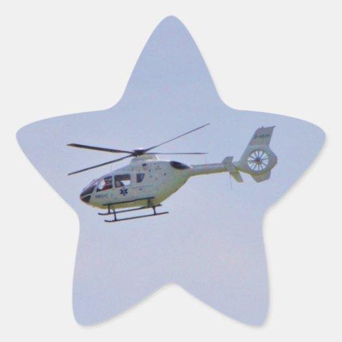 Medical Helicopter Star Sticker