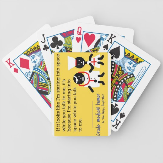 Medical Humor Bicycle Playing Cards