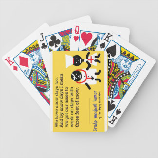 Medical Humor Bicycle Poker Cards